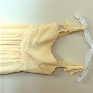 David's Bridal Canary Yellow Bridesmaid Dresses